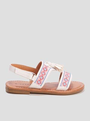 Sandales brodees Creeks blanc fille