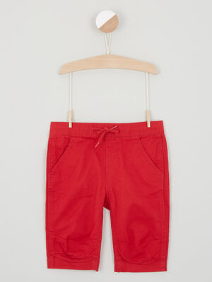Short Bermuda rouge garcon