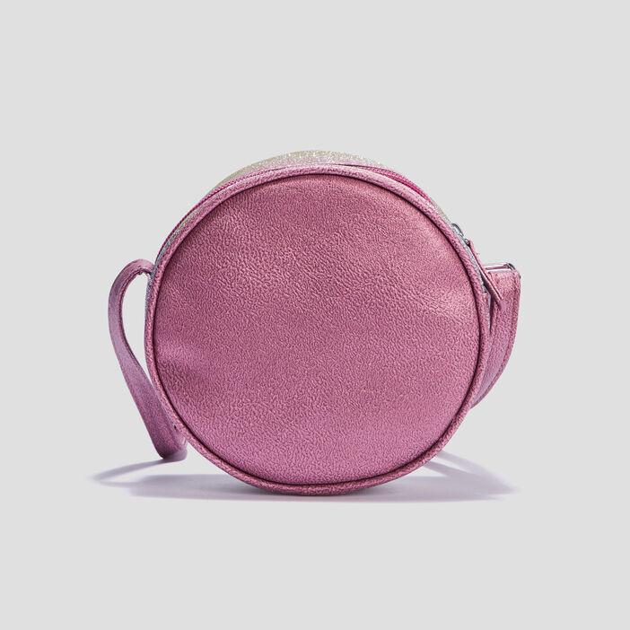 Sac rond pailleté fille rose