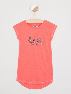 Nuisette Pyjama rose fluo fille