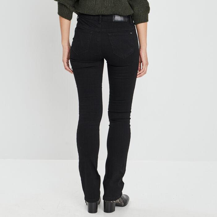 Jeans bootcut taille basse femme noir