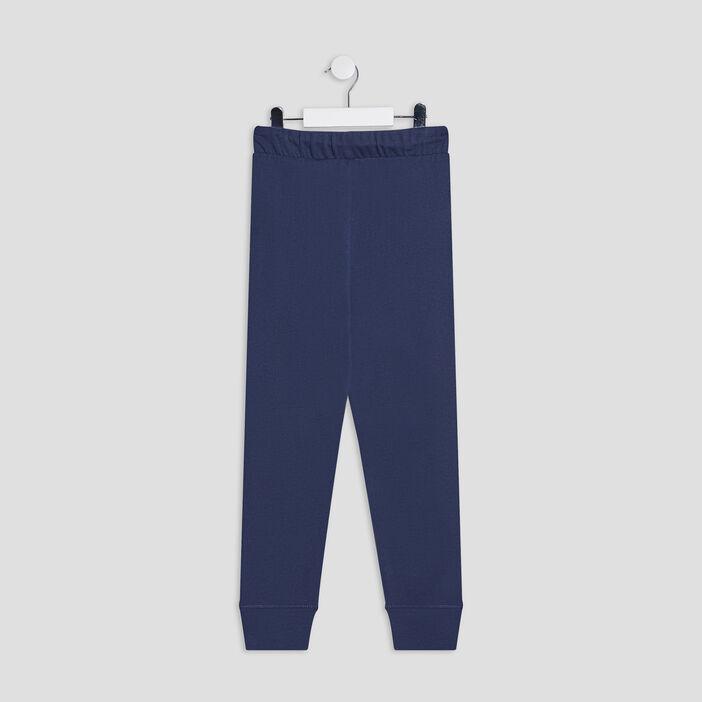 Jogging taille à coulisse garçon bleu marine