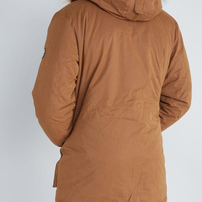 Parka multi-poches à capuche homme camel