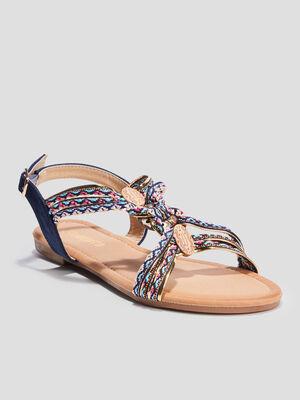 Sandales avec bijoux Liberto bleu femme