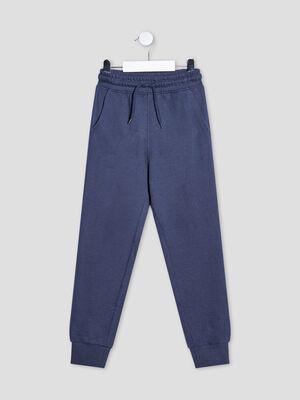 Pantalon jogging droit bleu marine garcon
