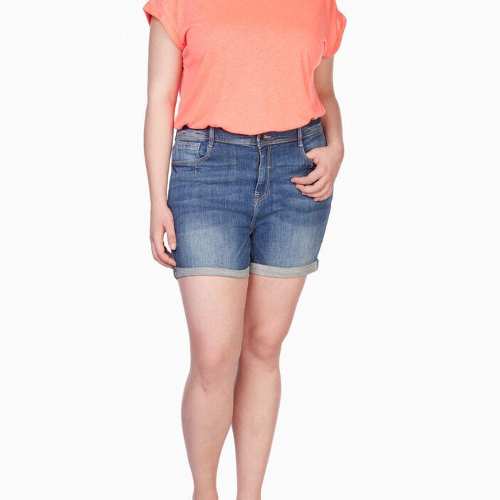 Short en jean grande taille femme grande taille denim stone