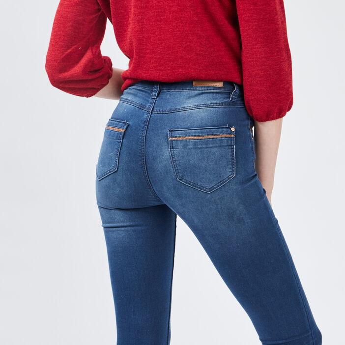Jeans slim femme denim stone