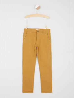 Pantalon 5 poches coton extensible camel garcon