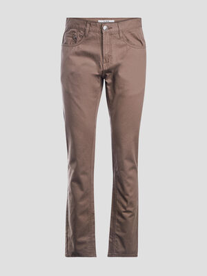 Pantalon straight taupe homme