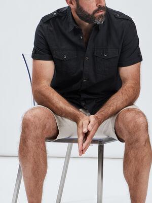 Chemise manches courtes gris fonce homme