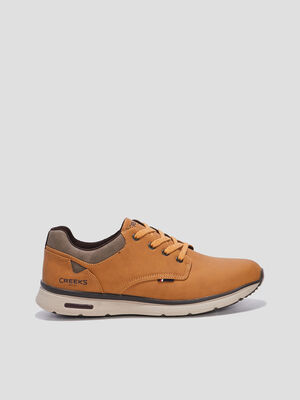 Sneakers a lacets Creeks jaune homme