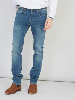 Jean slim delave 5 poches denim dirty homme