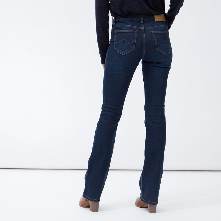 Jeans bootcut taille basse femme denim brut