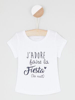 T shirt uni a message multicolore bebef