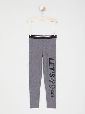 Legging avec imprime jambe gris fille