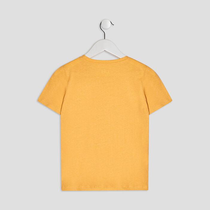 T-shirt manches courtes garçon jaune moutarde