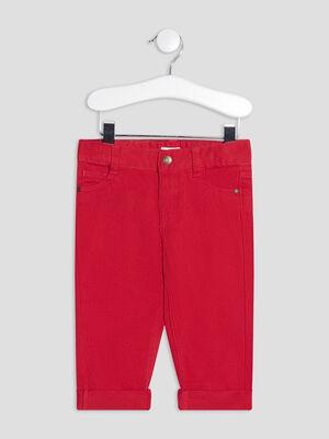 Pantalon droit rouge bebeg