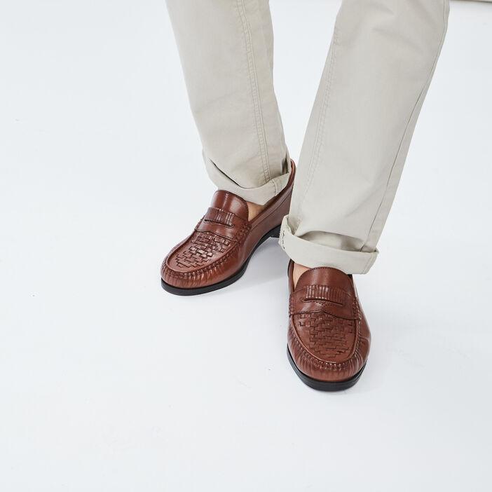 Mocassins en cuir homme marron