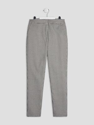 Pantalon droit elastique gris fille