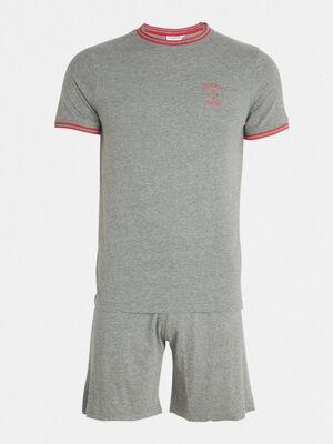 Pyjama gris fonce homme