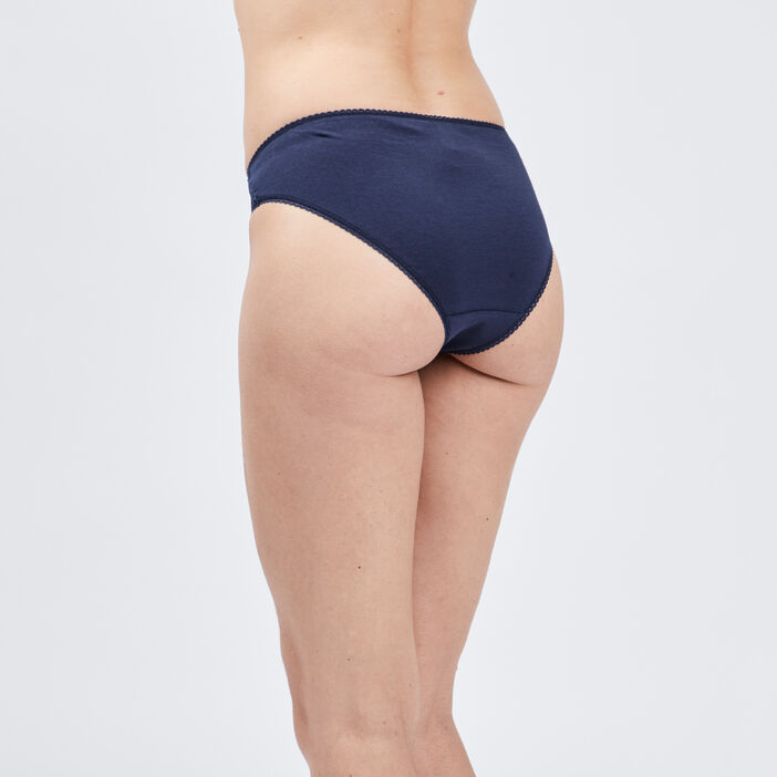 Culotte avec dentelle femme bleu marine