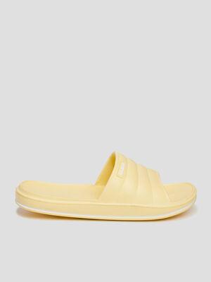 Claquettes Wamea jaune femme