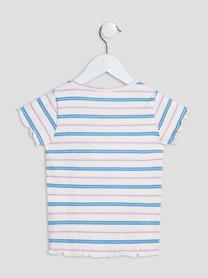 T shirt manches courtes multicolore fille