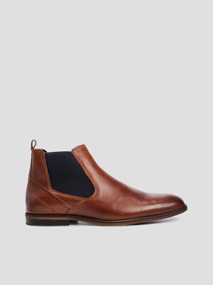 Bottines plates marron homme