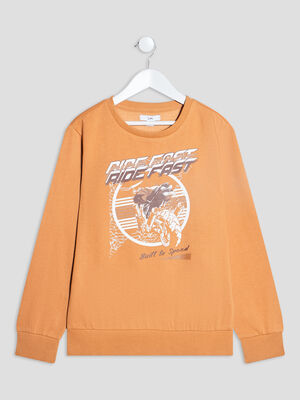 Sweat manches longues camel garcon