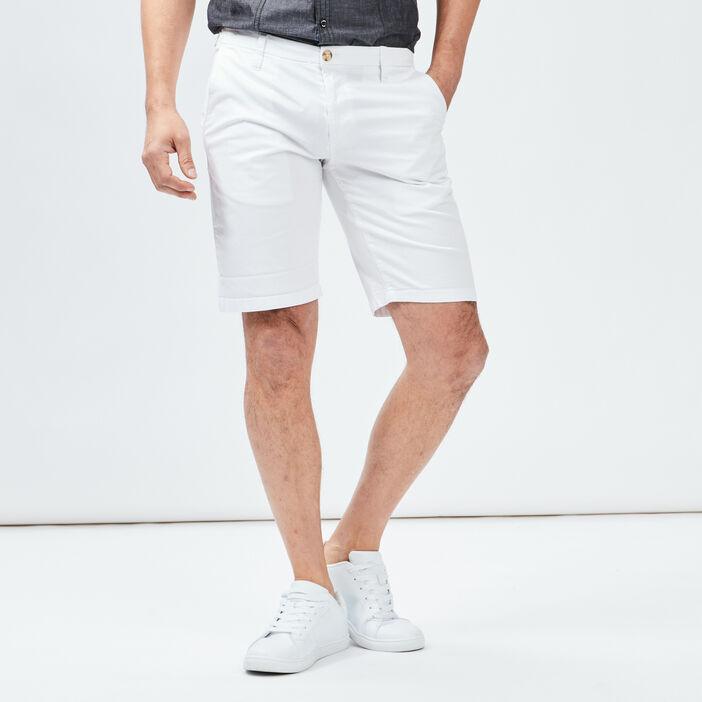 Bermuda straight homme blanc