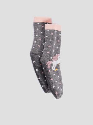 Chaussettes gris fille