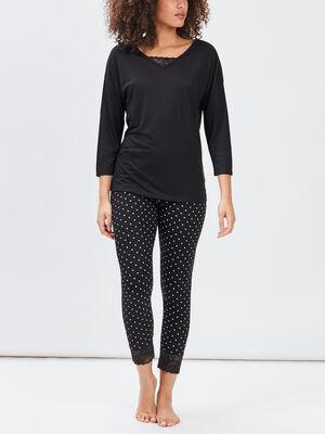 Ensemble pyjama 2 pieces noir femme