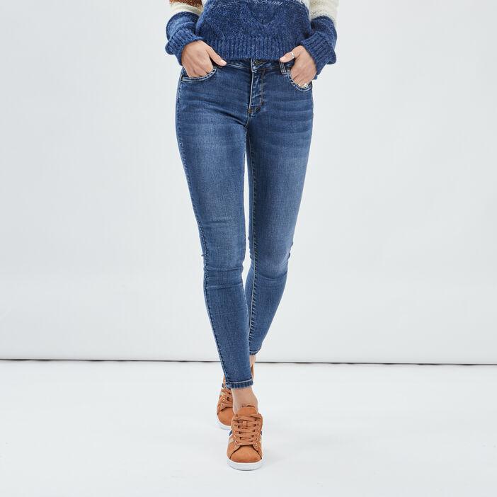 Jeans slim 7/8ème femme denim stone