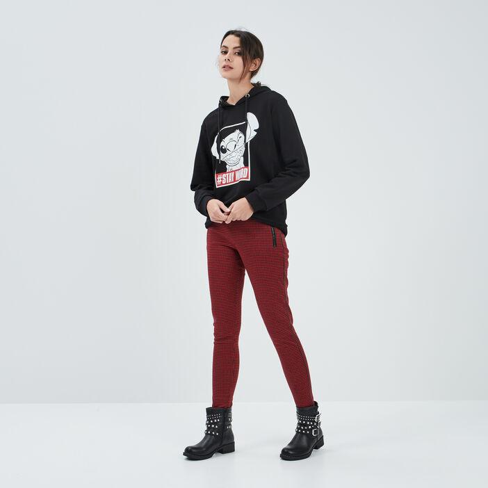 Pantalon legging femme rouge