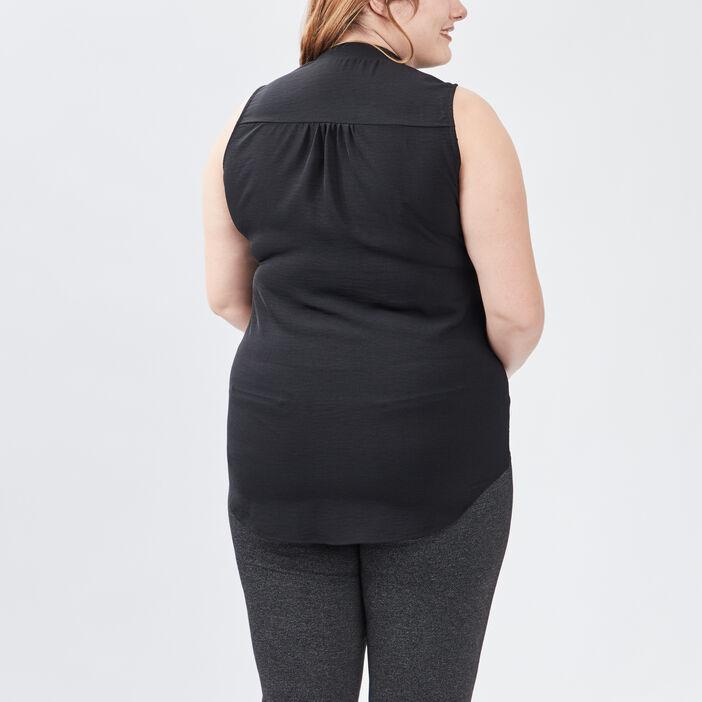 Blouse grande taille femme grande taille noir