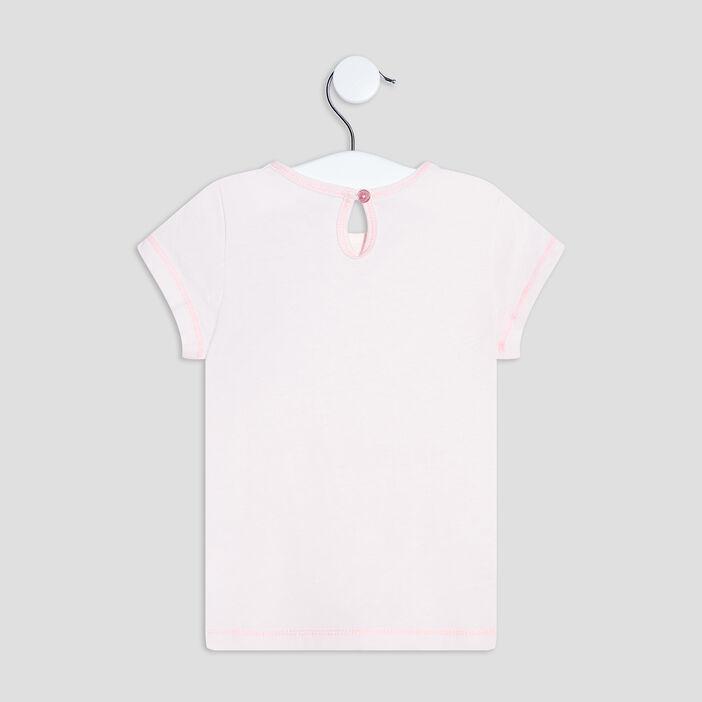 T-shirt manches courtes bébé fille rose clair