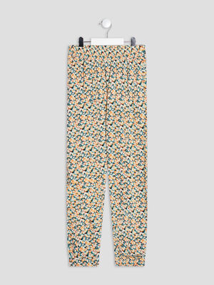 Pantalon droit fluide multicolore fille