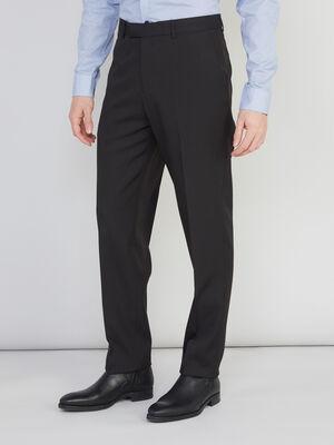 Pantalon droit avec pli noir homme