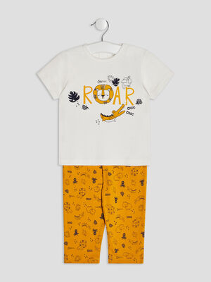 Ensemble pyjama 2 pieces jaune moutarde bebeg