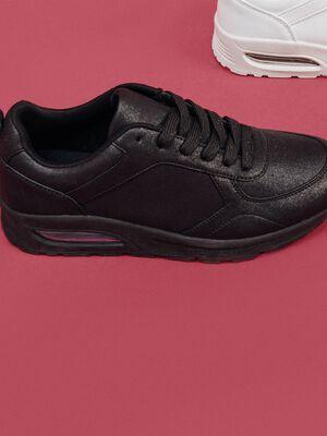 Baskets running noir femme