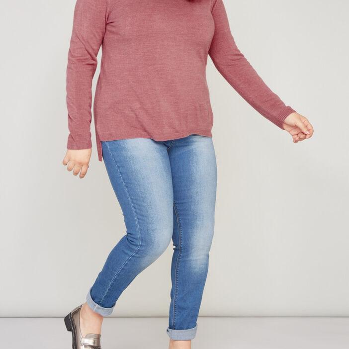 Jean coupe slim taille standard femme denim stone