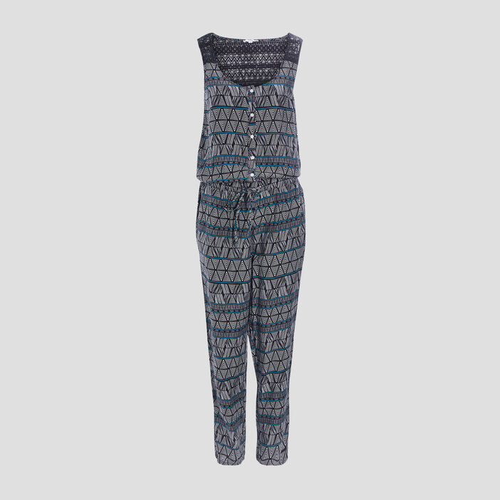 Combinaison pantalon droite femme noir