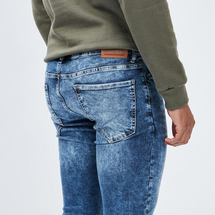 Jeans skinny stretch Creeks homme denim double stone