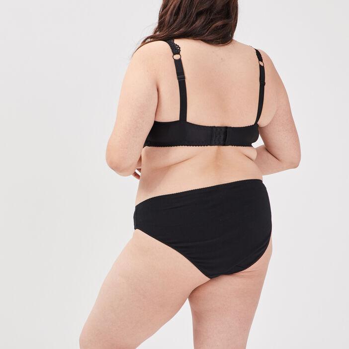 Soutien-gorge corbeille femme grande taille noir