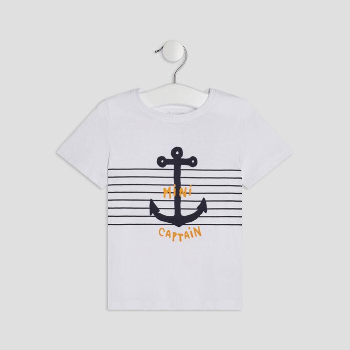 T-shirt manches courtes bébé garçon blanc