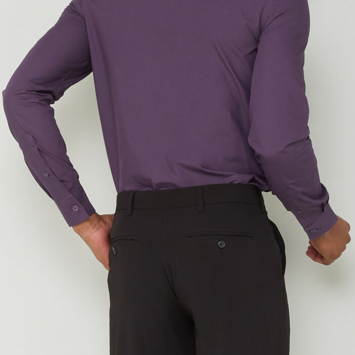 Chemise manches longues homme violet