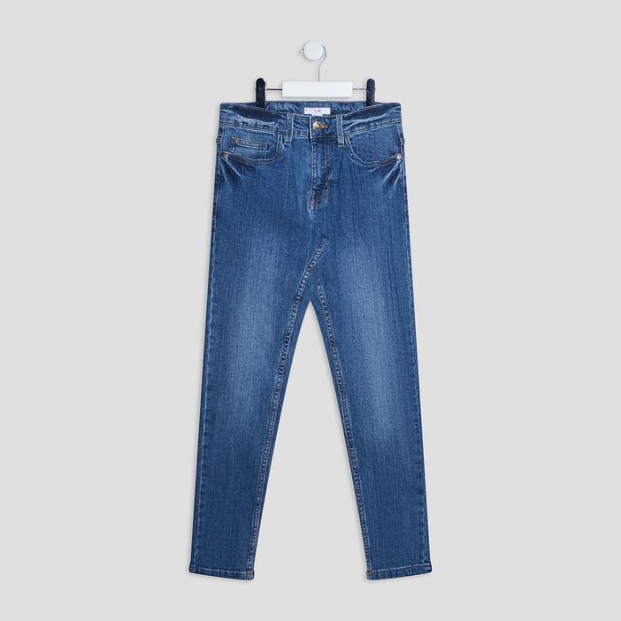 Jeans straight garçon denim stone