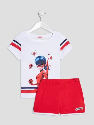Pyjama Miraculous Ladybug blanc fille