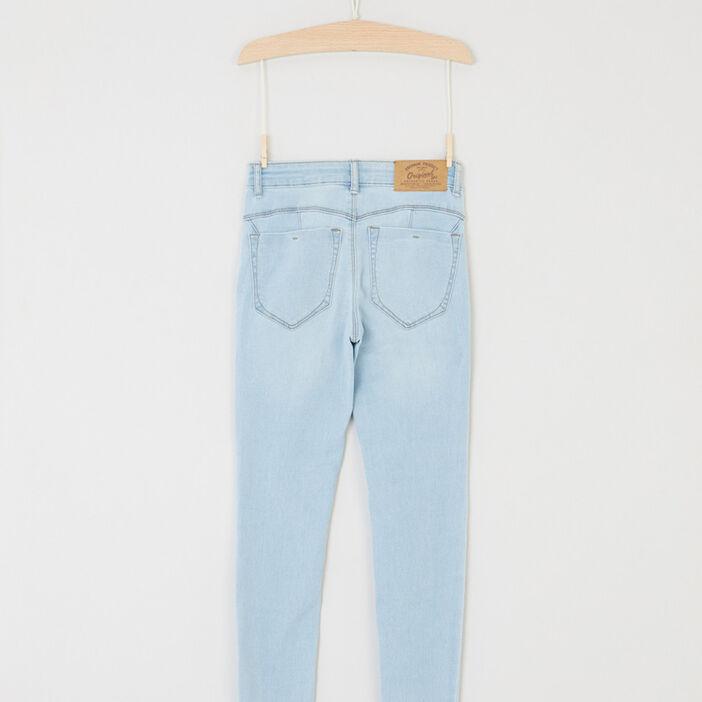 Jean skinny 5 poches fille denim double stone