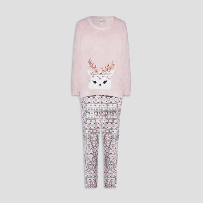 Ensemble de pyjama 2 pièces femme rose